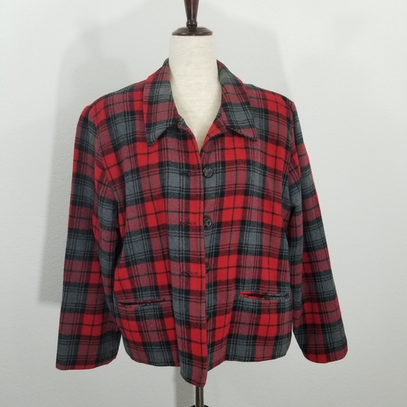 BFA Classics Jackets & Blazers - 🌻 BFA Classics Wool Blend Plaid Blazer Jacket 18P